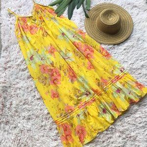 🌼SOFT SURROUNDINGS floral cotton maxi dress
